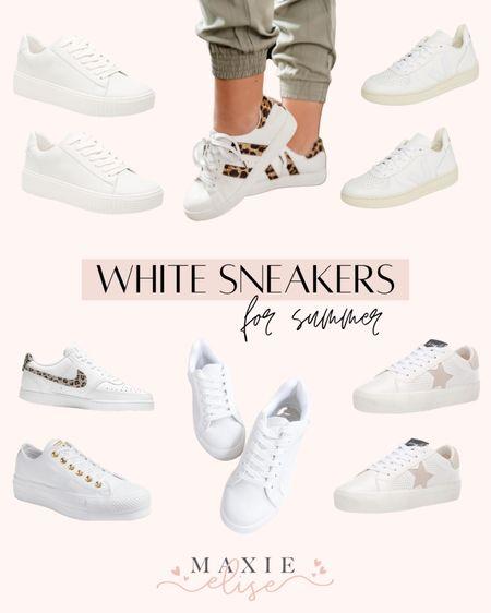 White Sneakers For Summer ✨  #whitesneakers #summershoes #whiteshoes #sneakers #womensshoes #shoes #summeressentials  #LTKSeasonal #LTKunder100 #LTKshoecrush