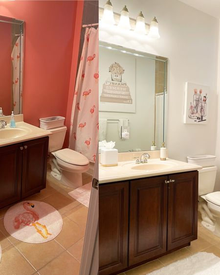 http://liketk.it/35hFb #liketkit @liketoknow.it @liketoknow.it.home @liketoknow.it.family #LTKhome #LTKunder100 #stayhomewithltk #bathroom #tween #whiteandgold #beforeandafter