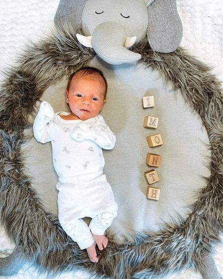 One month of Christian 💙  You are the sleepiest boy we know with a raspy little cry & are already super strong! You make us oh so tired and happy all at once. We can't wait to see more of your silly faces & that smile you sometimes flash us!  Linking similar baby play mats in our baby boy nursery. Screenshot any of my pics to shop in the @liketoknow.it app & give me a follow! http://liketk.it/3btLw #liketkit    @liketoknow.it.family #LTKbaby #LTKfamily #LTKunder100