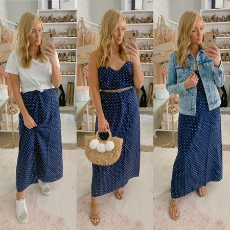 Three ways to style this navy maxi dress from old navy! Casual outfit + date night outfit http://liketk.it/2P0hp #liketkit @liketoknow.it #LTKsalealert #LTKspring #LTKstyletip
