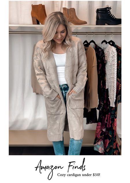 Long cardigan, Amazon fashion, Amazon finds   #LTKstyletip #LTKunder100