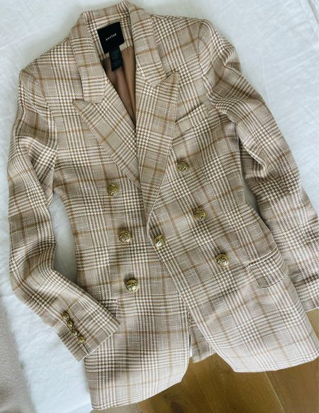 Can't wait to wear this camel plaid blazer! Love the lighter tones on this classic print. Sharing similar styles for less!  #LTKworkwear #LTKSeasonal #LTKbacktoschool