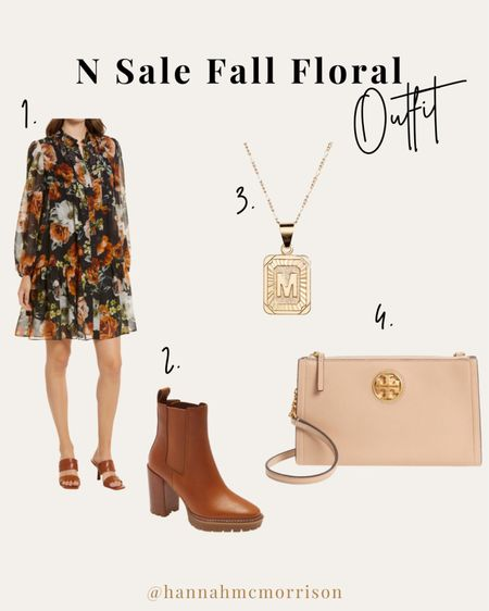 My favorite! Fall florals 🙌🏻 My favorite fall outfit is a knee length dress with booties. It is dainty and feminine. These Tory Burch boots are in my cart and ready for fall!   #LTKSeasonal #LTKsalealert #LTKunder100