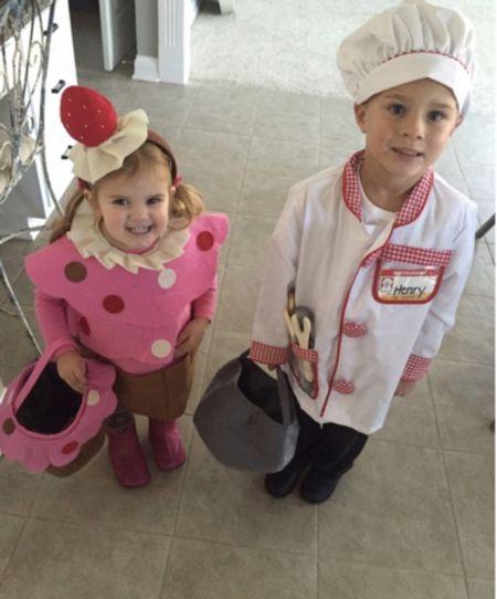 Cupcake and chef costume for kids this Halloween #justpostedblog   Fun costumes  Amazon  Halloween   #LTKunder50 #LTKkids #LTKHoliday