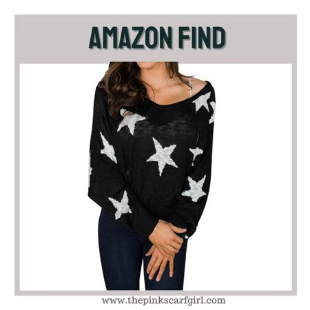 Star Knitted Sweater. A fun and cute look for fall    #LTKSeasonal #LTKunder50 #LTKstyletip