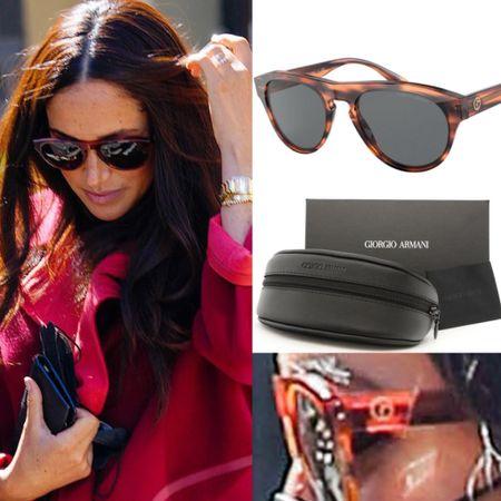 Meghan wearing Armani sunglasses #accessories #sun #outdoors   #LTKstyletip