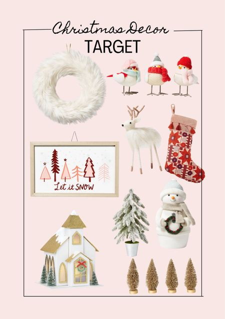 Christmas decor. Target finds. Pink Christmas    #LTKHoliday #LTKSeasonal #LTKhome