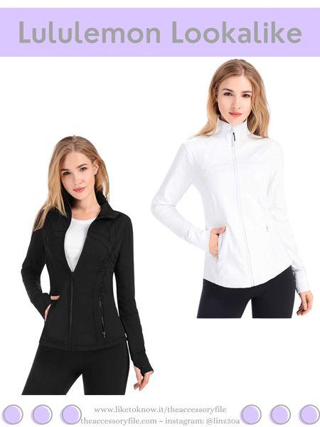 Lululemon lookalike jacket.   Amazon fashion, amazon find, workout clothes, gym clothes, loungewear   http://liketk.it/3hNeT  #liketkit @liketoknow.it #LTKfit #LTKsalealert #LTKunder50