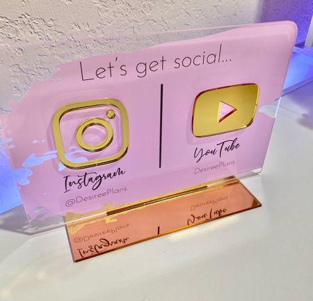 Love my New Social Media sign!  Get yours today!!   #LTKhome #LTKstyletip #LTKunder50