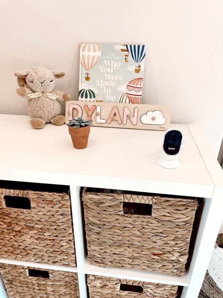 Take advantage of TARGET'S BABY MONTH DEALS!! The owlet monitor we use is $75 OFF TODAY!!  Linking this Joanna Gaines book we love, sound machines and a similar bookshelf and our hyacinth storage baskets! #Target @target #TargetBaby #targetstyle #TargetPartner   Nursery decor. Baby girl nursery.   #LTKbaby #LTKbump #LTKsalealert
