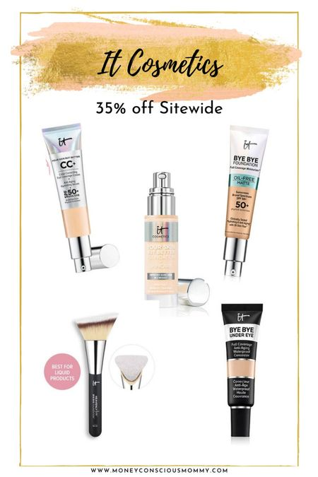 It Cosmetics 35% off Sitewide thru Sunday! foundation concealer makeup brushes