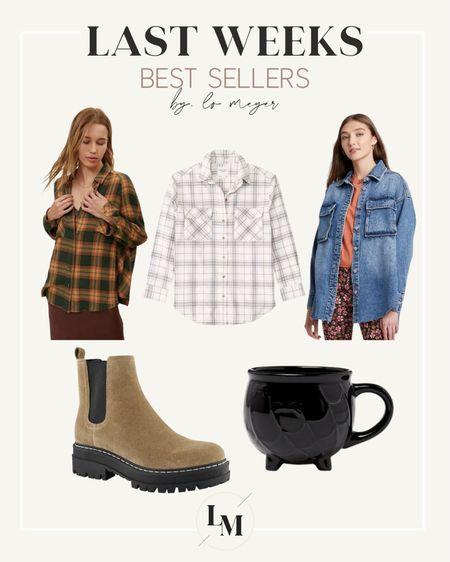 Last weeks best sellers! // Target shirt jacket, mug. Flannel from Abercrombie on sale with code LTKAF2021 🙌🏼 Urban Outfitters flannel is perfect for fall!   #LTKSale   #LTKSeasonal #LTKunder100
