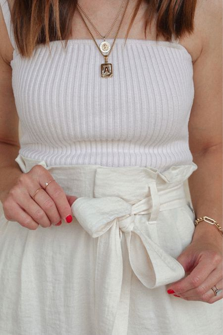 Chic & Cozy  paper bag shorts look.  + the LTK Shop Details:  http://liketk.it/3k3t4 #liketkit @liketoknow.it  + Olive & June Partner: https://oliveandjune.com?mct=jVw47n_9 Use the code TiffanyC20 on your next purchase
