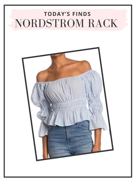 Daily finds: cute off the shoulder top for the transition to fall   #LTKunder50 #LTKunder100 #LTKSeasonal