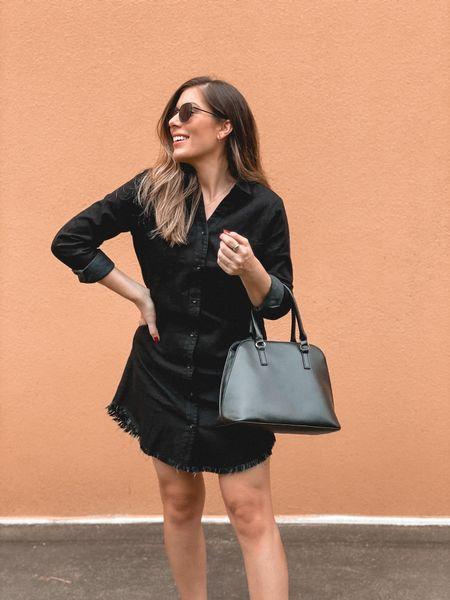 Amazon fashion finds denim dress.  Runs TTS   #LTKunder50 #LTKstyletip #LTKSeasonal