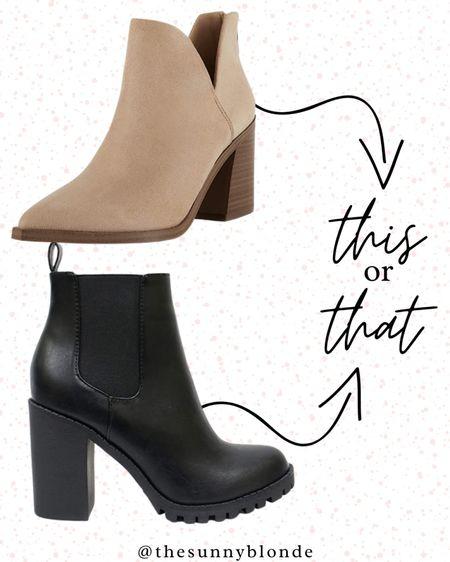 This or that? Booties fill my closet 👢  #LTKbeauty #LTKstyletip #LTKshoecrush