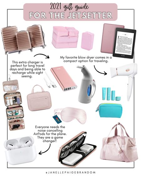 For the girl who loves to travel! All of my favorite travel essentials and must haves that are perfect for taking on vacation. A lot of these items are great for him too—just choose different color options!   #LTKGiftGuide #LTKHoliday #LTKtravel