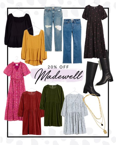 Madewell's clothing is definitely very high up on my favorites list. Every item is the highest of quality and they just released their fall collection!! Get all of these pieces for 20% off if you sign up to be an insider!   #LTKSale #LTKcurves #LTKSeasonal