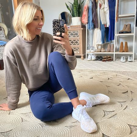 These Zella joggers feel like butter & I LOVE this navy color for only $38!  I paired them w/ these Adidas Run Swift sneakers for an everyday athleisure wear look.   Both of these are still in stock & are such great staples for fall!  #LTKunder100 #LTKstyletip #LTKunder50