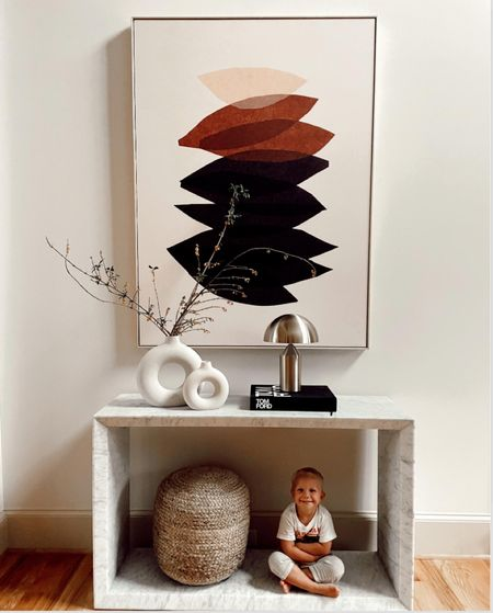 Entry way table RH and minted art   #LTKSeasonal #LTKhome