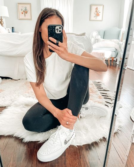 Ain't these a beaut 🤩 Someone else is way into my sneakers, too 👉🏻 Also, this crop tee is so soft and works with leggings that hit right below the boobs 😂 #yafeelme Shop your screenshot of this pic with the LIKEtoKNOW.it shopping app http://liketk.it/3casT #liketkit a @liketoknow.it #LTKunder100 #LTKshoecrush #LTKstyletip