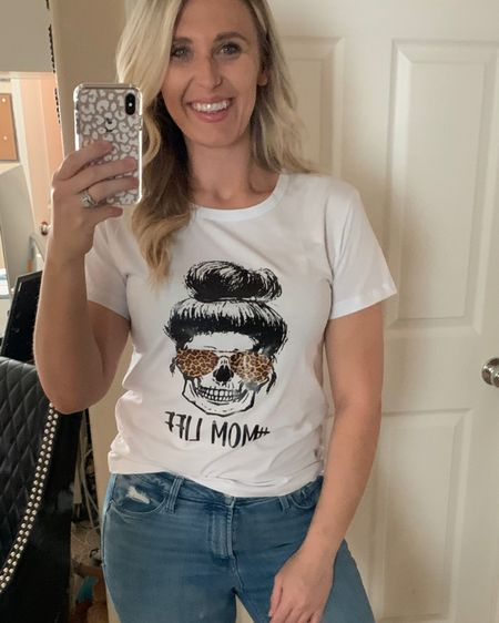Mom life, how are you celebrating mom? Get her this cute graphic tee from shein or these denim pants! http://liketk.it/3eLsc #liketkit @liketoknow.it #LTKunder50 #LTKstyletip #LTKfamily