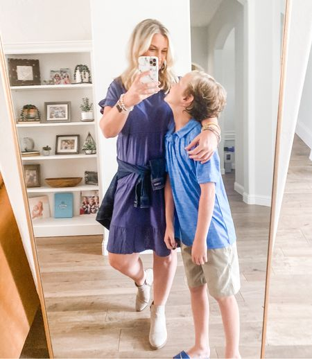 Loving this outfit from Walmart! Super soft and comfy dress and booties that go with everything!  All super affordable. Fits TTS.   #LTKunder50 #LTKstyletip #LTKworkwear