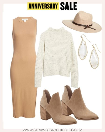 Add a chunky sweater over top a bodycon dress for added warmth during the cooler months.   #LTKsalealert #LTKshoecrush #LTKSeasonal