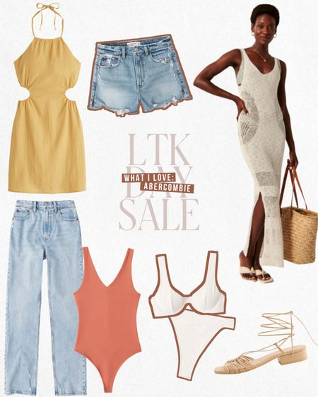 LTK DAY SALE - Exclusive in-app savings happening now from Abercrombie. Shop these finds and more 20% off this weekend only!  — The BEST Jean shorts for summer — White bikini  — 90s inspired jeans — Sundresses .... and more!  #LTKDay #LTKstyletip #LTKsalealert