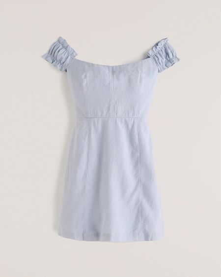 How cute is this off the shoulder mini dress