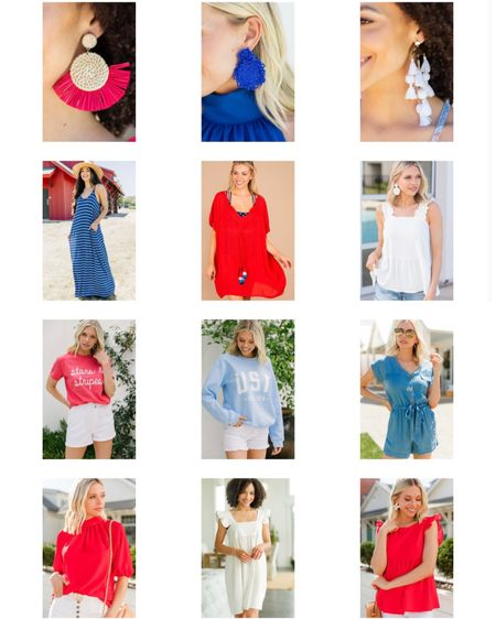 4th of July. Mint julep boutique. Red white and blue. USA sweatshirt. Earrings. @liketoknow.it http://liketk.it/3ipft #liketkit