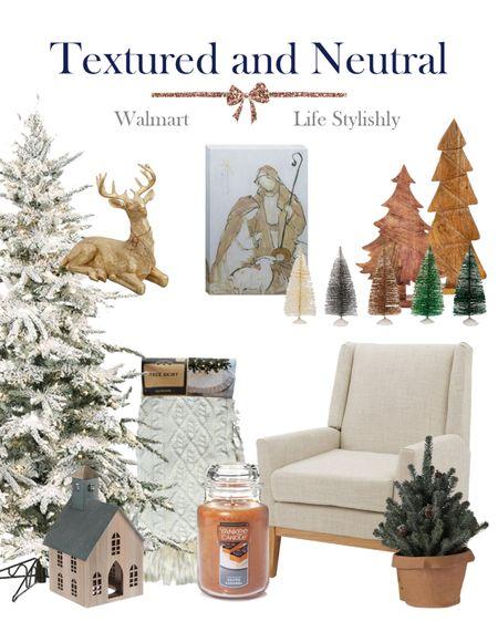 Walmart neutral home holiday finds. @walmart #sponsored #walmarthome