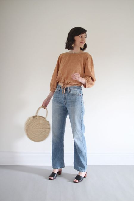 Peaches and jeans make for a perfect long weekend look!  Top - Esby (old) - Some very cute alternatives linked.  Jeans - ABLE - TTS - Use LEEV20 for 20% Off anytime  Mules - Nisolo (old) - Very similar linked Bag - Artisan & Fox - Linked to another one I really like.