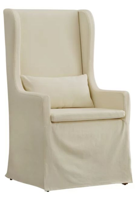 Slipcovered wingback chair #LTKhome #LTKstyletip #LTKsalealert http://liketk.it/3fFPz #liketkit @liketoknow.it