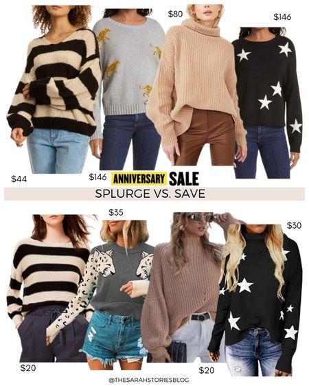 Nordstrom Sale alternatives, #nsale dupes, Look for less // Save vs Splurge // sweaters http://liketk.it/3jYVp  #liketkit @liketoknow.it #LTKsalealert #LTKstyletip #LTKunder100