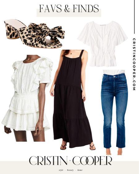 Favs & Finds // Tops // Jeans // Dress // Penny Knot Slides http://liketk.it/3gkO4 #liketkit @liketoknow.it