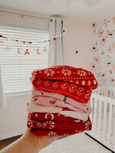 Pajamas are ready for Christmas! http://liketk.it/34uSn #liketkit @liketoknow.it #LTKfamily #LTKhome #LTKbaby #wallpaper #owlet #babymonitor #darkeningcurtain #blackout #floral #nursery #babyroom