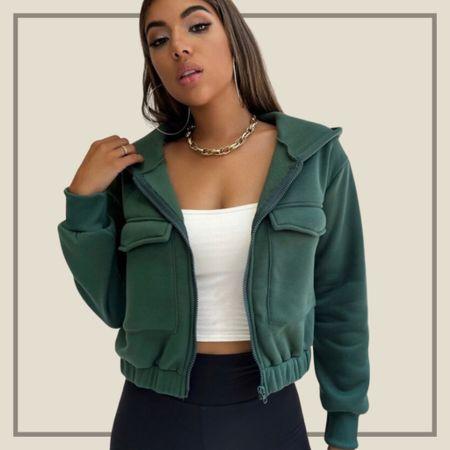 Pocket zip up outerwear   #LTKstyletip #LTKunder50 #LTKunder100