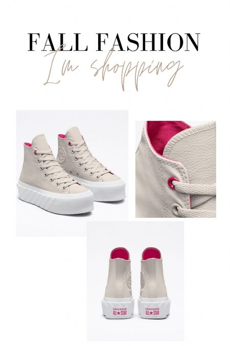 Thought these sneaks were SO cute! Love the pop of pink   #LTKunder100 #LTKSeasonal #LTKshoecrush