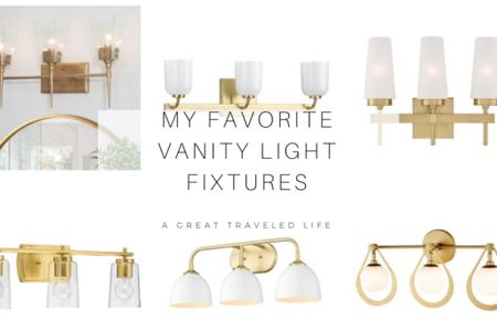 Light fixtures are my favorite add to any space. Vanity light fixtures can make a bathroom or powder room renovation come to life! Here are a few of my favorite modern brass and gold vanity light fixtures.   http://liketk.it/387uI #liketkit @liketoknow.it #LTKhome #LTKunder50 #LTKstyletip @liketoknow.it.brasil @liketoknow.it.europe @liketoknow.it.home @liketoknow.it.family Shop your screenshot of this pic with the LIKEtoKNOW.it shopping app