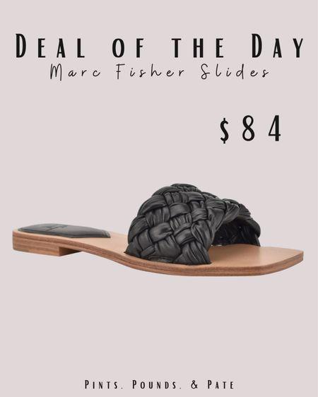 Deal of the day! Marc Fisher slides at Nordstrom. On sale for $84 this weekend!   #LTKstyletip #LTKshoecrush #LTKunder100