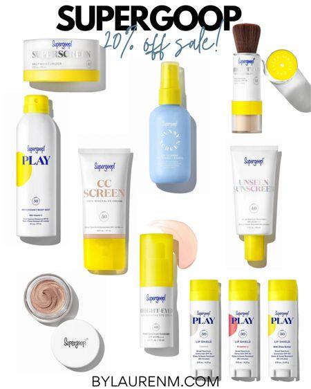 Supergoop 20% off sale. Sunscreen. Sun protection. SPF. http://liketk.it/3h0Hx #liketkit @liketoknow.it @Supergoop #sale #supergoop #spf #summer #beauty #LTKunder50 #sunscreen #LTKbeauty