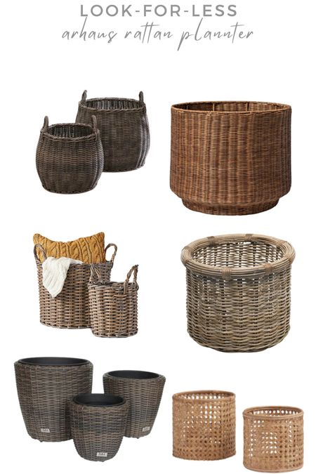 Saw the prettiest photo of mums inside rattan planters and I was instantly inspired! The original planter I found on Arhaus was over $300 😱 so I had to find some looks for less!   #LTKSeasonal #LTKhome #LTKunder50