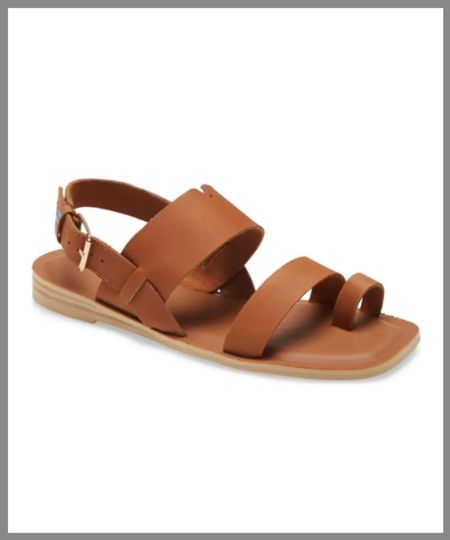 Sandals with three straps across the arch as well as a heel strap. In the Nordstrom anniversary sale.  #LTKSeasonal #LTKsalealert #LTKshoecrush