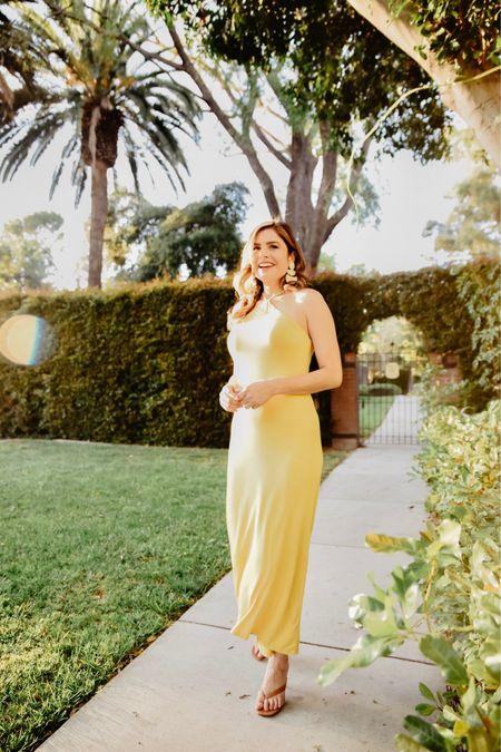 The yellow halter dress from LA Made clothing is one of my favorites   @liketoknow.it http://liketk.it/3gAT9 #liketkit #LTKshoecrush #LTKunder100 #LTKwedding