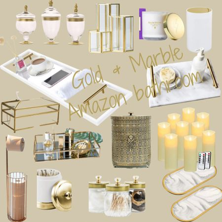 http://liketk.it/3jkBx #liketkit @liketoknow.it #LTKfamily #LTKhome #LTKsalealert #founditonamazon #amazonbathroom #chicfeels #bathroomdecor  I will forever, always love Gold and Marble 🙌🏼  Chic bathroom vibes all from Amazon   Price ranges: $12-$120