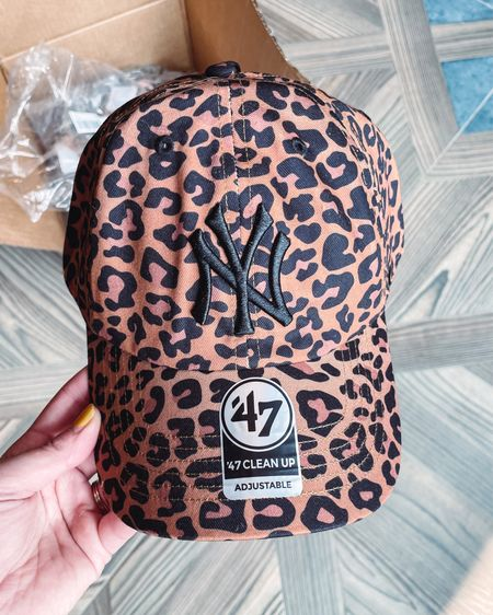 I don't even know how long I've been looking for a leopard print Yankee hat, but I finally found one! This baseball cap comes in other team options as well and is under $30. Such a cute sporty look!   #LTKunder50 #LTKSeasonal #LTKfit