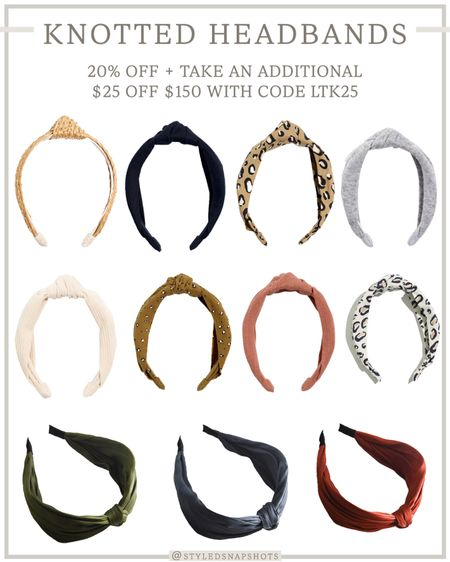 Madewell knotted headbands // 20% off for insiders (free to join) + take an extra $25 off $150 with code LTK25   #LTKunder50 #LTKsalealert #LTKSale