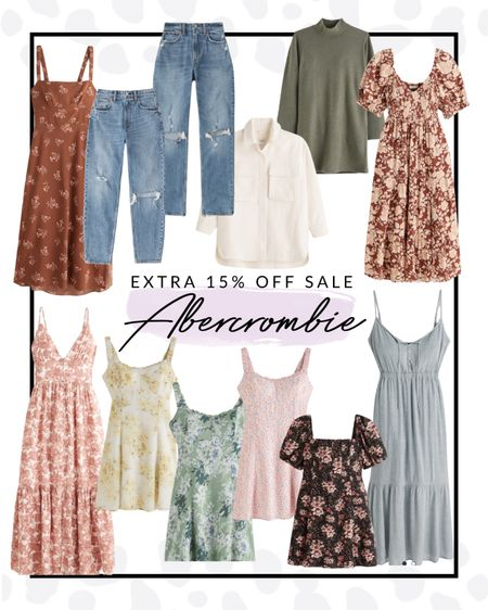 Abercrombie is having a 15% off sitewide sale today and these dresses and jeans are to die for! If you're a curvy lady like me, you need to try their stuff!!   #LTKcurves #LTKSeasonal #LTKsalealert