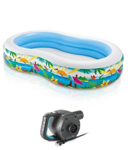 This pool comes with an electric pump!  Amazing!   #LTKkids #LTKunder100 #LTKswim